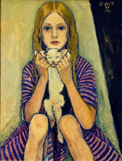 Heinrich Vogeler - girl with a cat