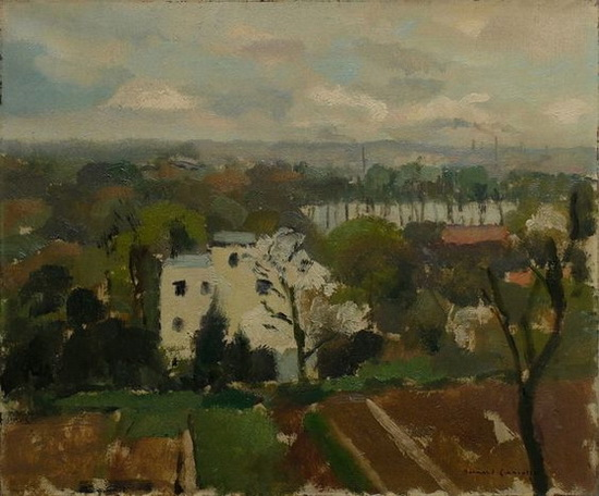 Bernard Lamotte - Paysage de banlieue
