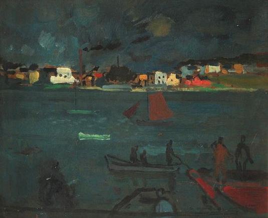 Bernard Lamotte - Harbor Scene
