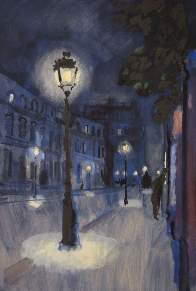 Bernard Lamotte - Street at Night