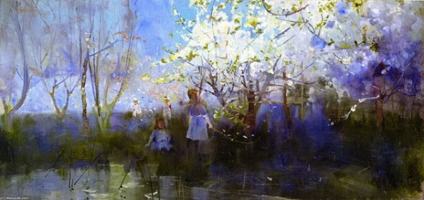 Charles-Conder-Orchard-Scene