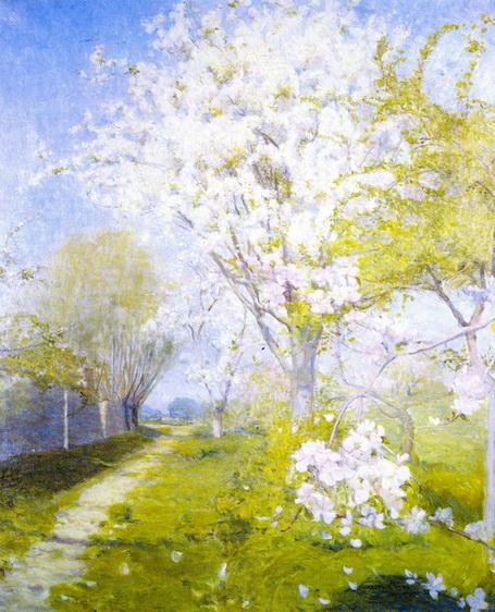 Charles-Conder-xx-Blossom-at-Dennemont