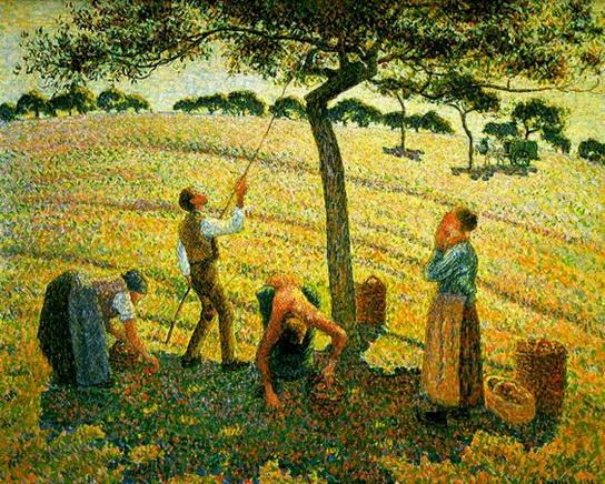 Gaston Balande - Apple Picking at Eragny-sur-Epte