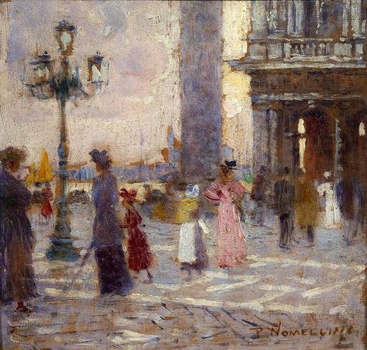 Plinio Nomellini - Mattino a Venezia