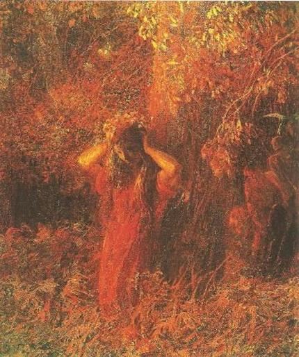 Plinio Nomellini - La ninfa rossa
