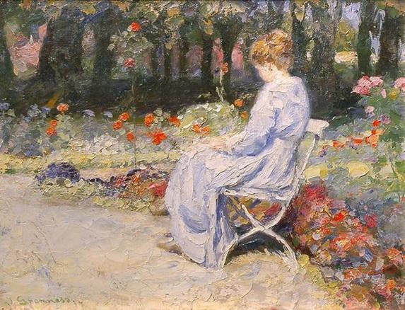 Johannes Grenness - Women Seated in a Garden