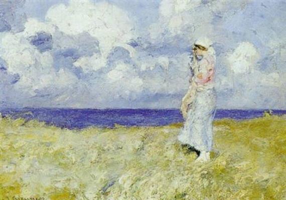 Johannes Grenness - Sommerdag ved havet med