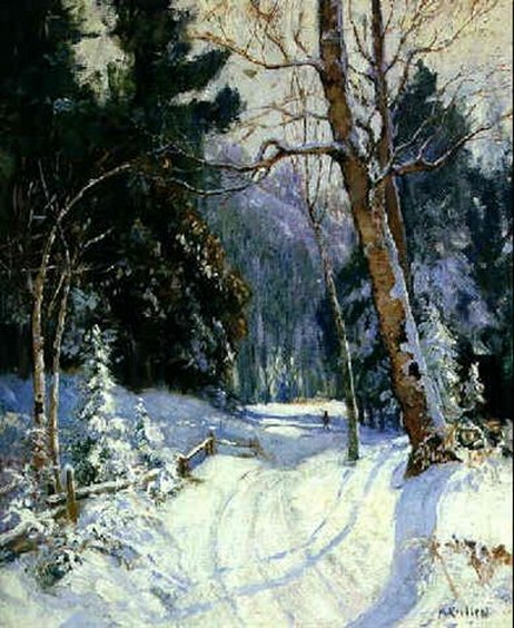 Maurice Galbraith Cullen - COUNTRY ROAD, WINTER