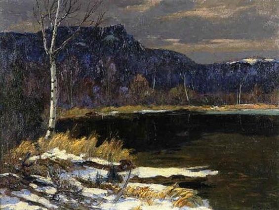 Maurice Galbraith Cullen - Early snowfall, Cache River