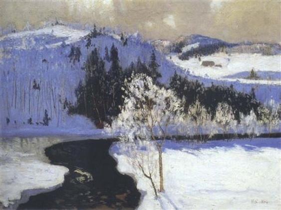 Maurice Galbraith Cullen - Dark waters, winter
