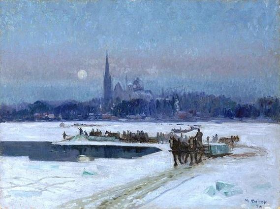 Maurice Galbraith Cullen - Ice cutters, Longueuil
