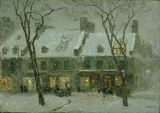 Maurice Galbraith Cullen - Montreal, old houses