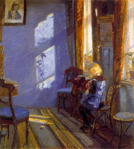 Anna Ancher - Sunlight in the Blue Room