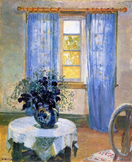 Anna Ancher - Interior with Clematis
