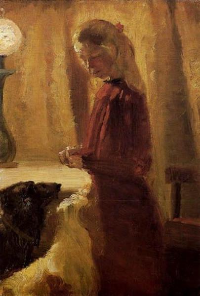Anna Ancher - Alimentos para los perros