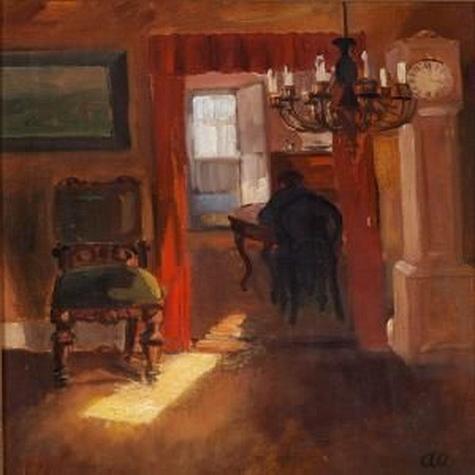 Anna Ancher - Sunlit Interior