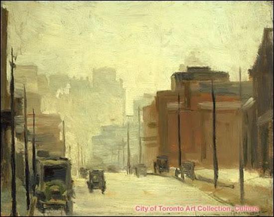 Marion Long - Looking Down Bay Street 1934