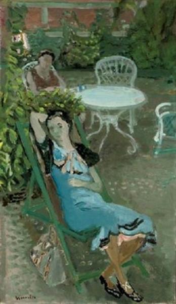 Maurice Brianchon - Femmes dans un jardin