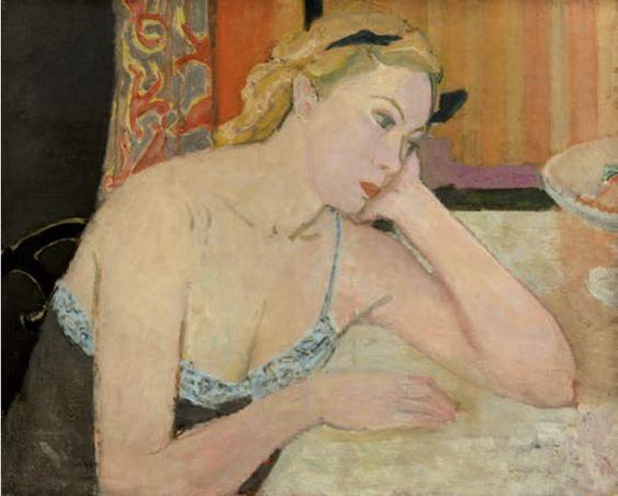 Maurice Brianchon - Femme au corsage bleu