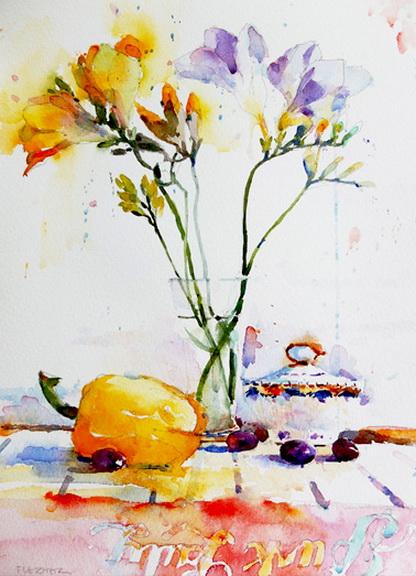 Nigel Fletcher - Freesia's and Yellow Pepper