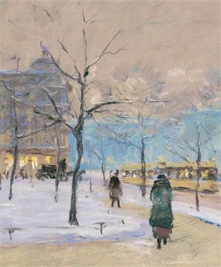 Franz Skarbina - Ein winterlicher