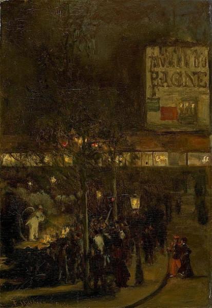 Franz Skarbina - Abendscene in Paris.
