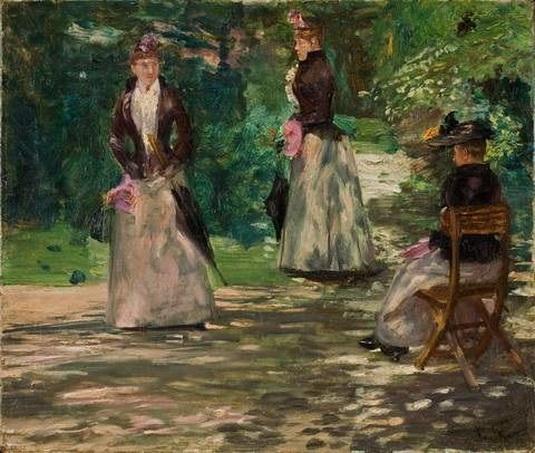 Franz Skarbina - Im Park