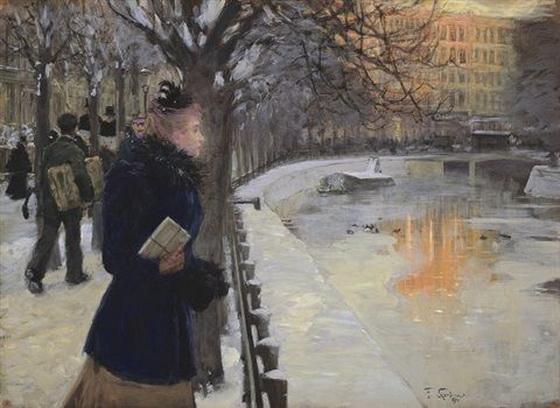 Franz Skarbina - An der Potsdamer Brucke