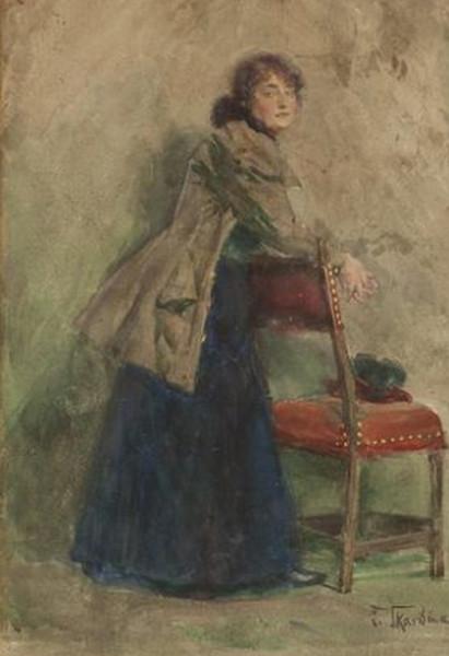 Franz Skarbina - LADY