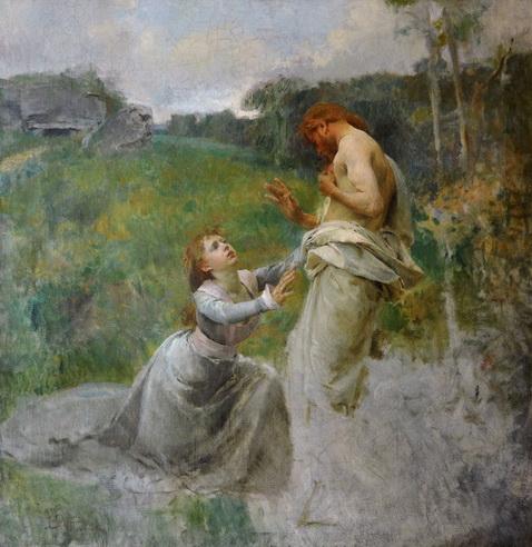 Vojtech Hynais - Christ and Magdalena