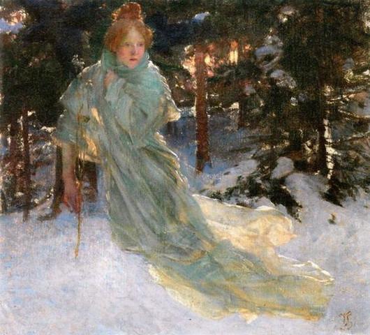 Vojtech Hynais - Study for Winter
