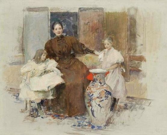 Vojtech Hynais - pani Hrusove s dcerami