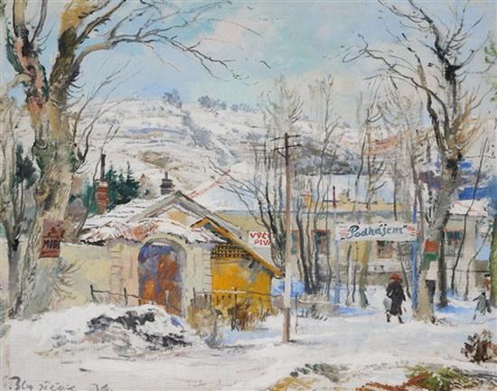 Oldrich Blazicek - zima na periferii prahy