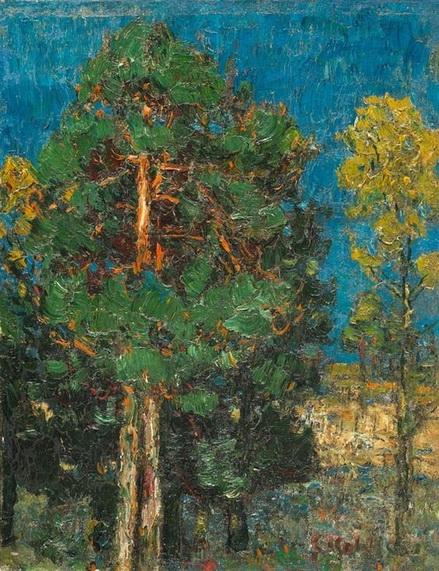 Christian Rohlfs - Pines