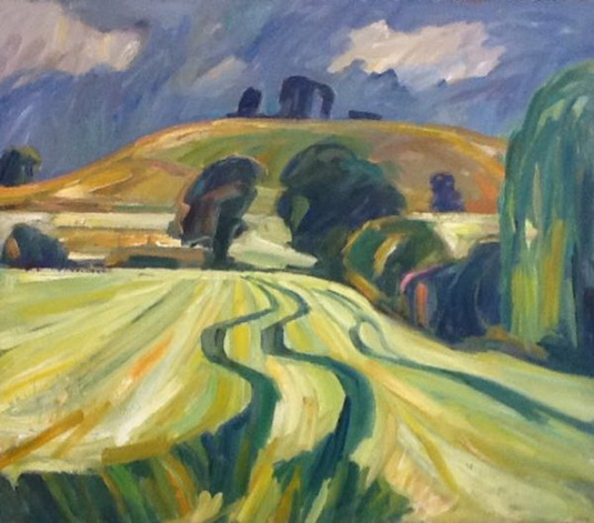 Nick Schlee - WITTENHAM CLUMPS FROM RIVER