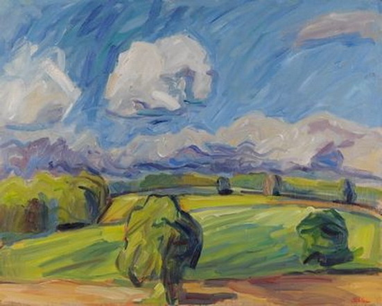 Nick Schlee - White Cloud Over Green Field
