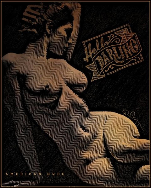 David Meyer - American Nude collage digital media