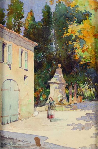 Carlo Brancaccio - Popolana con cesto di vimini
