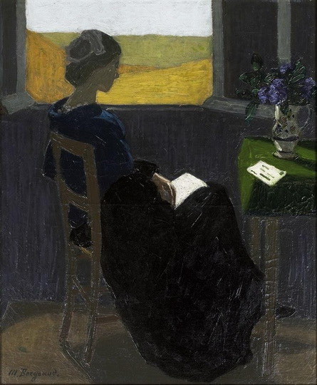 Marius Borgeaud - Young Woman Reading at the Window
