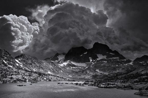 Ansel Adams Afternoon Thunderstorm, Garnet Lake