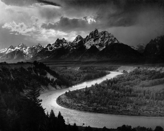 Ansel Adams California The Tetons and the Snake River
