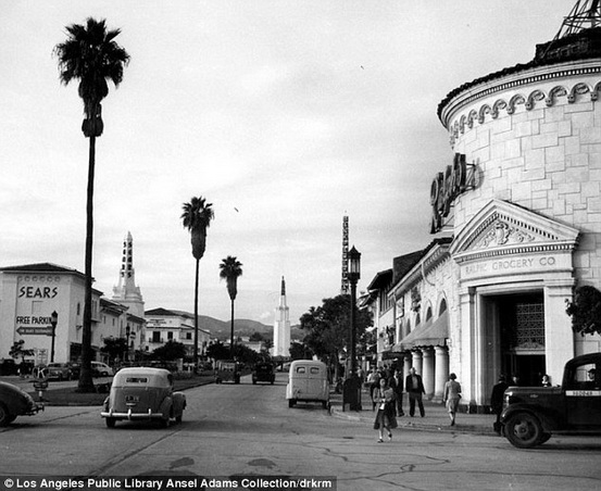 Ansel Adams  Among the shops in Westwood Village