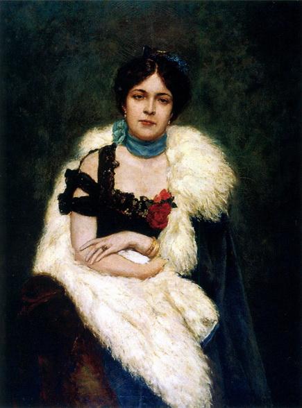 Сведомский Павел - Портрет Анны Николаевны Кутуковой