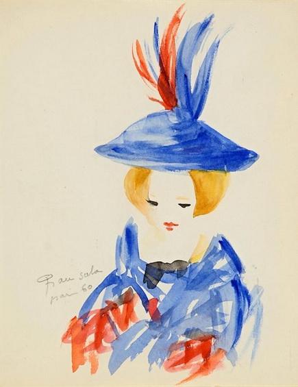 Emilio Grau Sala - Girl with Hat