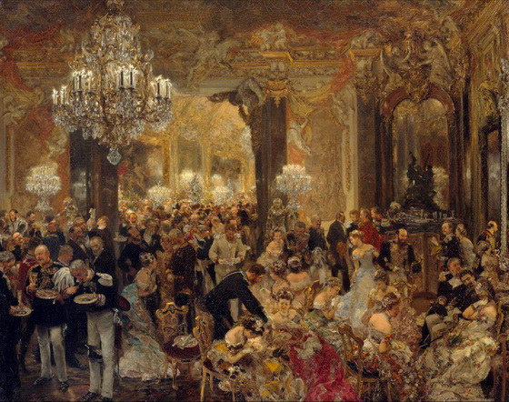 Adolph von Menzel  - The Dinner at the Ball