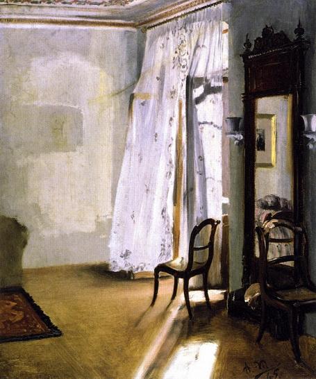 Adolph von Menzel  - Balcony Room