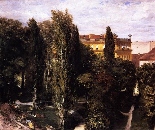 Adolph von Menzel  - Garden of Prince Albert's Palace
