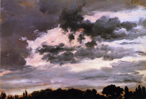 Adolph von Menzel  - Cloud Study