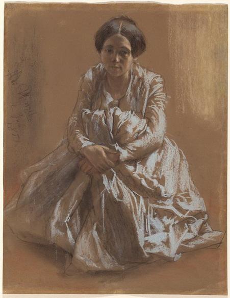 Adolph von Menzel  - The Artist's Sister Emilie