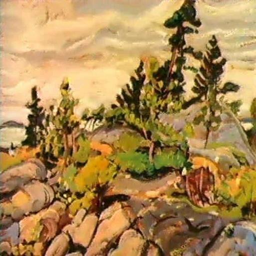 Arthur Lismer - ROCKS AND PINES